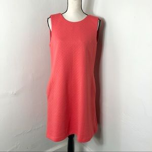 Tommy Hilfiger Coral Textured Sleeveless Dress